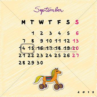 2015 horses september