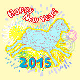 new year of sheep fireworks