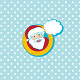 santa cartoon card