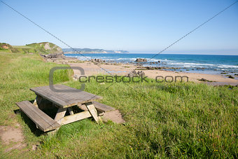 Beciella beach in Asturias