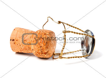 Champagne wine cork and muselet