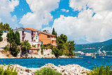 Beautiful view on Adriatic village near Split, Croatia, Dalmatia