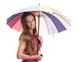 young pretty woman with umbrella