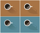 Vector set of simple coffee icons