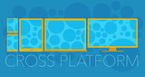 Vector concept of cross platform