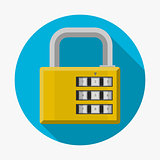Flat vector icon for padlock