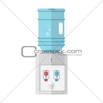Flat vector icon for water cooler