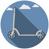 Flat vector icon for Kick Scooter