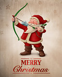 Santa Claus archer greeting card