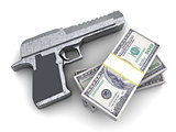 weapon and money