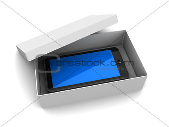 box with phone
