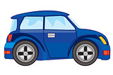 Vector illustration of blue car