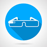 Blue vector icon for smart glasses