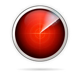 Vector icon for red radar