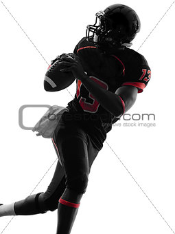 american football player quarterback portrait silhouette