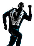 man runner sprinter jogger silhouette
