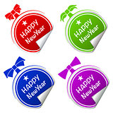 christmas ball colorful stickers set