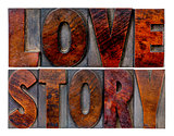 love story word abstract