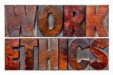 work ethics word abstract