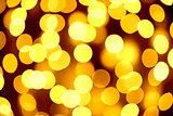 Abstract Christmas Background with Blurred Lights