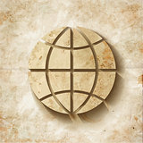 shabby Paper Globe