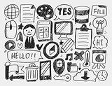 doodle web background