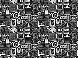 doodle seamless web background
