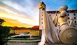 sculpture in Bratislava castle