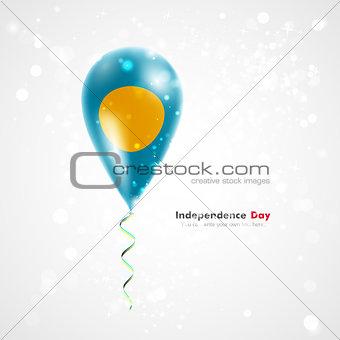 Flag of Palau on balloon