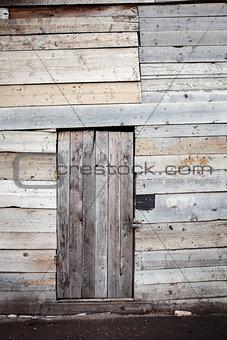 Old wooden plank door