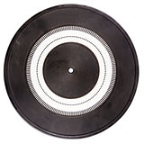Vintage rubber turntable platter mat