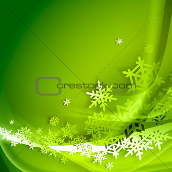 Abstract green winter background