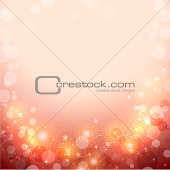 Abstract red winter background