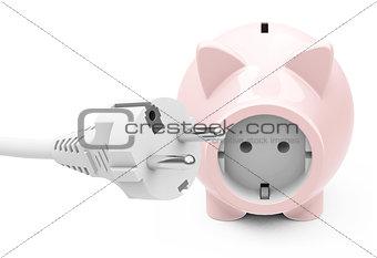 power socket piggy bank