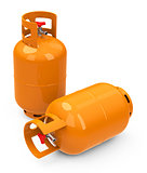 the gas bottles