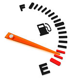 the fuel gauge