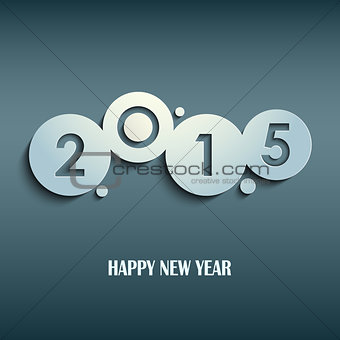 Abstract blue New Years wishes rounds template