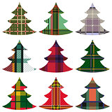 Set of Christmas Trees using the Celtic ornament