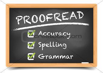Blackboard Proofread