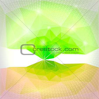 Abstract vector green background. Magic tree.