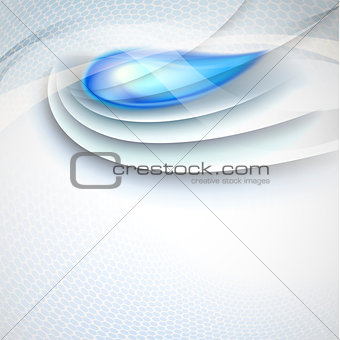 Abstract vector background with blue drop