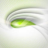 Abstract vector background with green drop