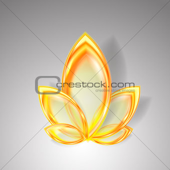 Abstract autumn background with transparent leaves