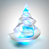 Christmas tree from glass