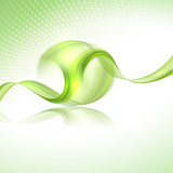 Abstract waving background with green element