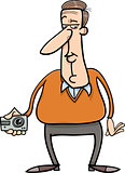 man and hidden camera cartoon