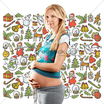 Pregnant Woman Looking For Christmas Gifts