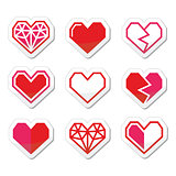Geometric heart for Valentine's Day icons