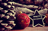 text merry christmas in a star-shaped blackboard