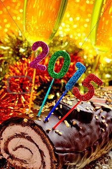 2015 yule log cake